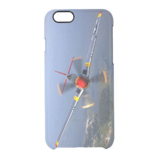 P-51 het Vliegtuig van de Vechter van de mustang Doorzichtig iPhone 6/6S Hoesje