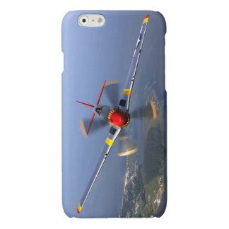 P-51 het Vliegtuig van de Vechter van de mustang Glossy iPhone 6 Hoesje