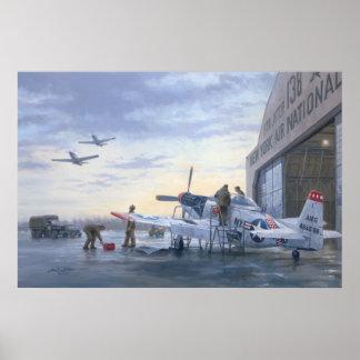 """P-51 op Waakzaam poster van de Baan 24 """" x36"""