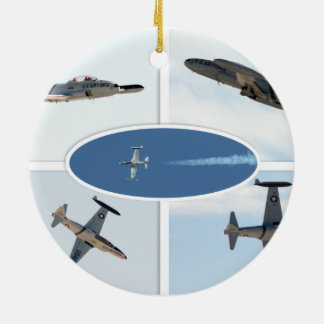 P-80 vallend ster 5 de Reeks van het Vliegtuig Rond Keramisch Ornament