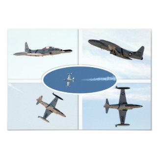 P-80 vallend ster 5 de Reeks van het Vliegtuig 8,9x12,7 Uitnodiging Kaart