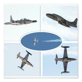 P-80 vallend ster 5 de Reeks van het Vliegtuig 13,3x13,3 Vierkante Uitnodiging Kaart