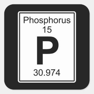 P - Fosfor Vierkante Sticker