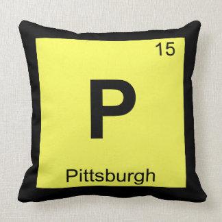 P - het Symbool van de Chemie van Pittsburgh Kussen