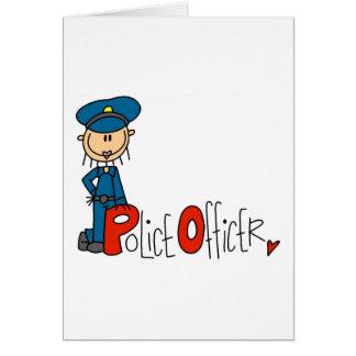 P is voor Politieman Wenskaart