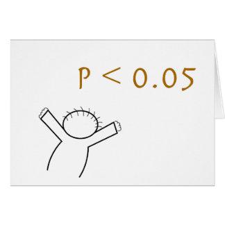 P-waarde kaart voor statistici
