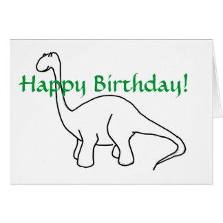 PA- gelukkige Verjaardag! De Kaart van de dinosaur