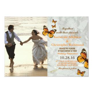 Paar die op het Strand lopen 12,7x17,8 Uitnodiging Kaart
