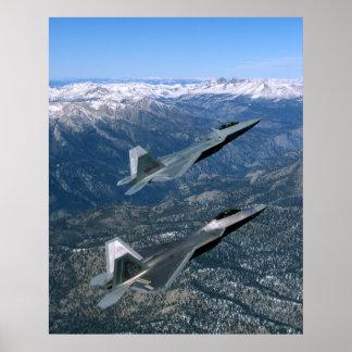 Paar F22 Vechters van de Luchtmacht Poster
