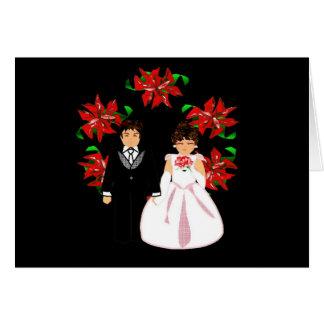 Paar I van het Huwelijk van Kerstmis met Kroon Wenskaarten