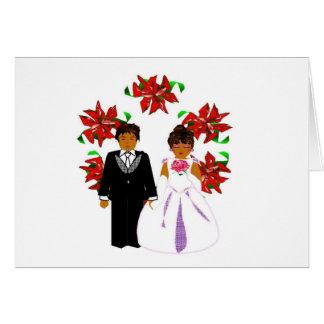 Paar II van het Huwelijk van Kerstmis met Kroon Kaart