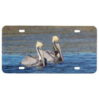 Paar Pelikanen Nummerplaat