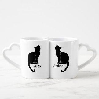 Paar van de mok van de kattenliefde