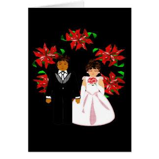 Paar van het Huwelijk van Kerstmis het Tussen vers Kaarten