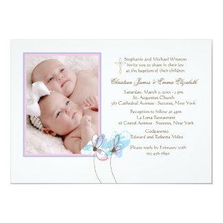 Paar van Uitnodiging van de Foto van Bloemen de 12,7x17,8 Uitnodiging Kaart