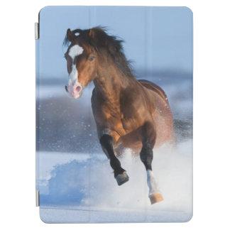 Paard die over het gebied in de winter lopen iPad air cover