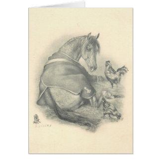 Paard en Kippen, Kerstmis Kaart