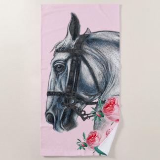 Paard en Rozen Strandlaken
