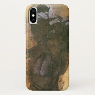 Paard en Ruiter door Edgar Degas, het Vintage Art. iPhone X Hoesje