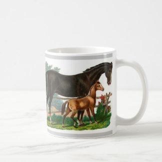 Paard geïllustreerde mok