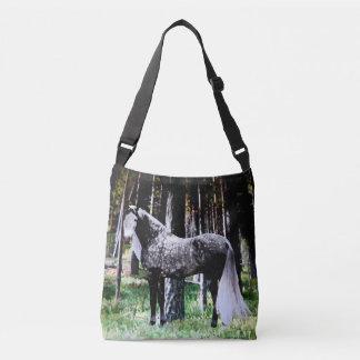 """""""Paard in de Bos"""" DwarsZak van het Lichaam Crossbody Tas"""