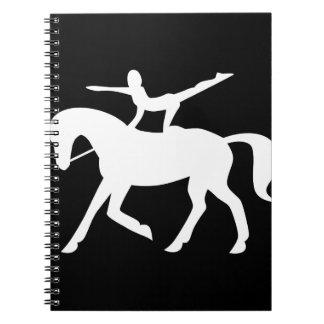 paard vaulting pictogram notitie boek