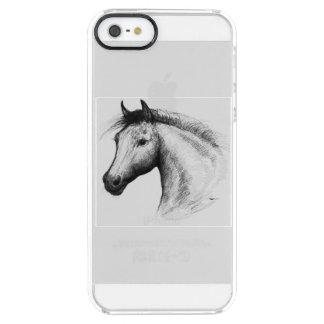 Paard:  Wit Doorzichtig iPhone SE/5/5s Hoesje