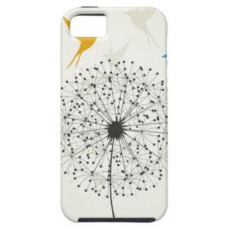 Paardebloem en vogel tough iPhone 5 hoesje