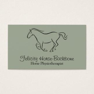 Paarden fysiotherapeut visitekaartjes