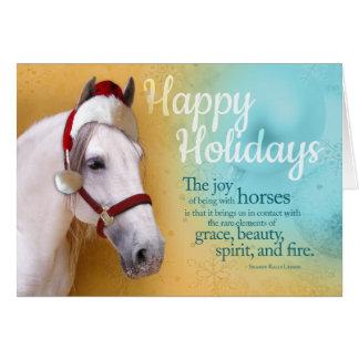 Paarden Kerstman Wenskaart