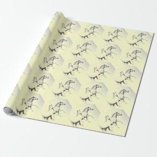 Paarden, ruiter nieuw inpakpapier