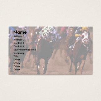 Paardenrennen Visitekaartjes