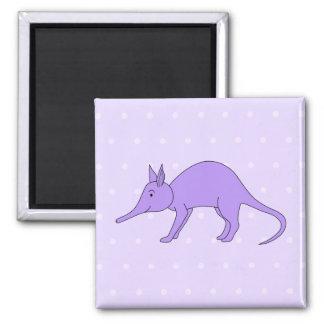 Paars Aardvarken Vierkante Magneet