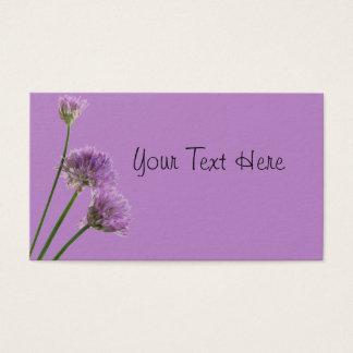 paars bieslook in bloei visitekaartjes