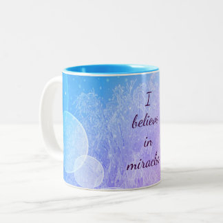 Paars/Blauw geloof in het ontwerp van de Tweekleurige Koffiemok