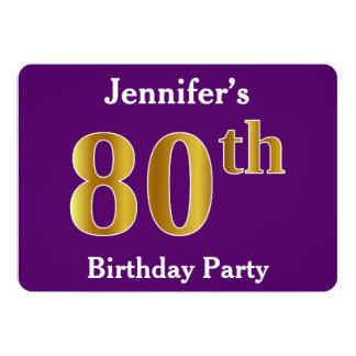 Paars, de Gouden 80ste Partij van de Verjaardag Kaart