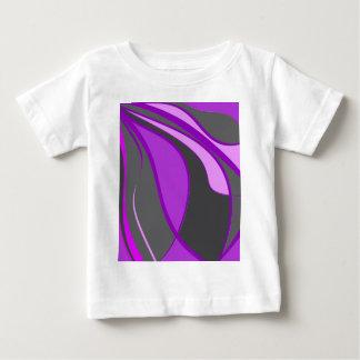 Paars decoratief ontwerp baby t shirts