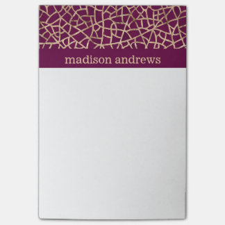 Paars en Gouden van de Folie Faux Abstract Patroon Post-it® Notes