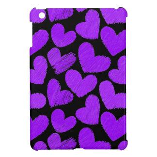 Paars en zwart harten iPad MiniHoesje iPad Mini Case