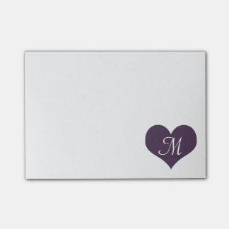 Paars hart post-it® notes