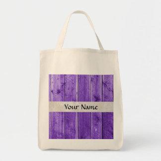 paars hout boodschappen draagtas