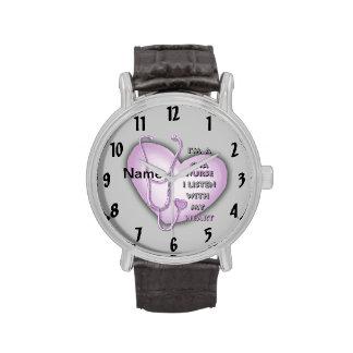 Paars KAN verzorgen Horloges