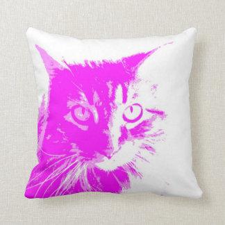 paars kattenhoofdkussen beschikbaar op alle sierkussen