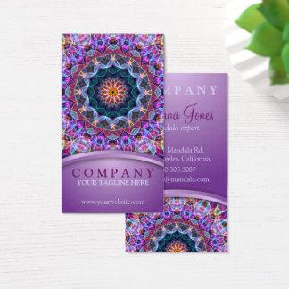 Paars Lotus Mandala Visitekaartjes