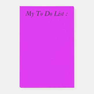 Paars om de Post-it van de Lijst te doen Post-it® Notes