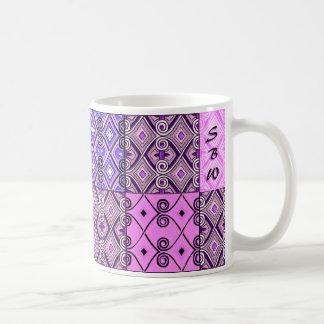 Paars Perzisch Lapwerk (Gepersonaliseerde Mok) Koffiemok