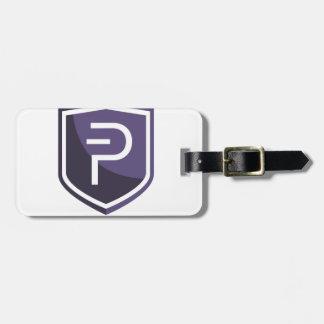 Paars Schild PIVX Bagagelabel