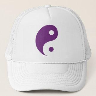 Paars Taoist Symbool van Yin Yang Trucker Pet