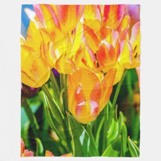 Paars Verrukken van tulpen Fleece Deken
