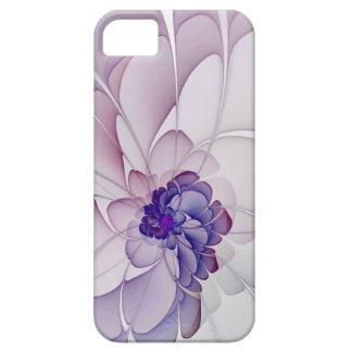 Paarse Abstracte Bloemen van het flirt Barely There iPhone 5 Hoesje